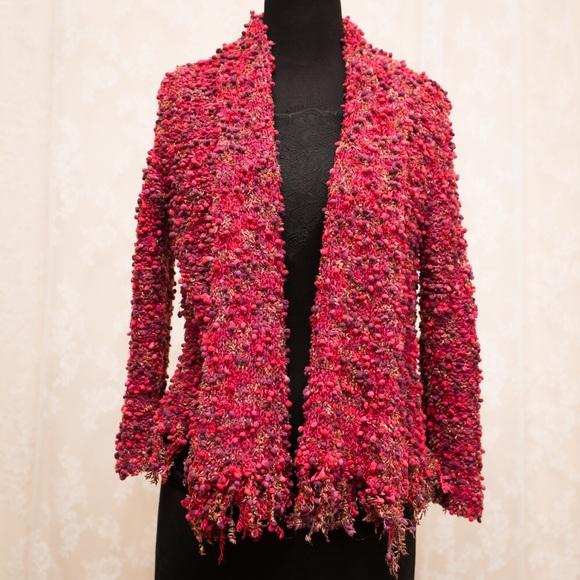 7b49df770dda48 Anthropologie knit red hot pink cardigan PM. M 5bf491a0a31c33ac1175fee3